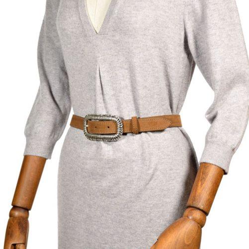 cintura donna 1360 pelle suede