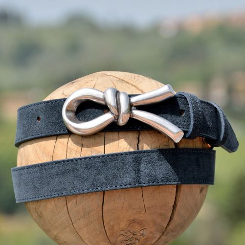 Belt 2368 in suede leather