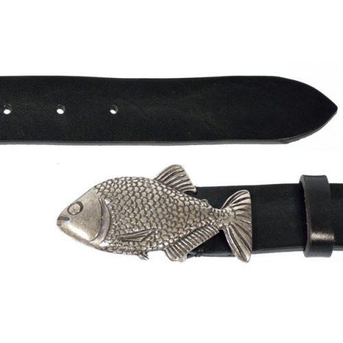 cintura cuoio pesce