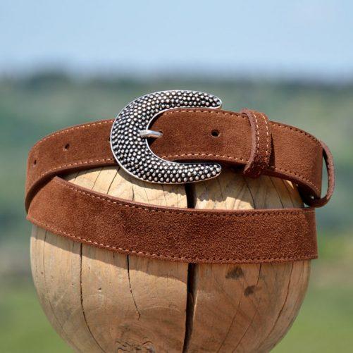 Cintura 1510 in pelle scamosciato