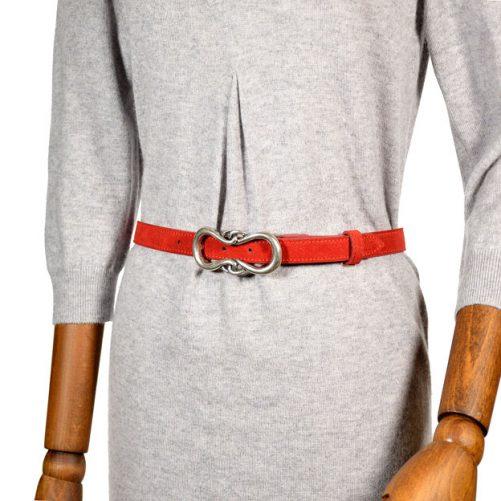 cintura 1380 suede rosso
