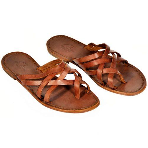 sandalo leggero in cuoio donna