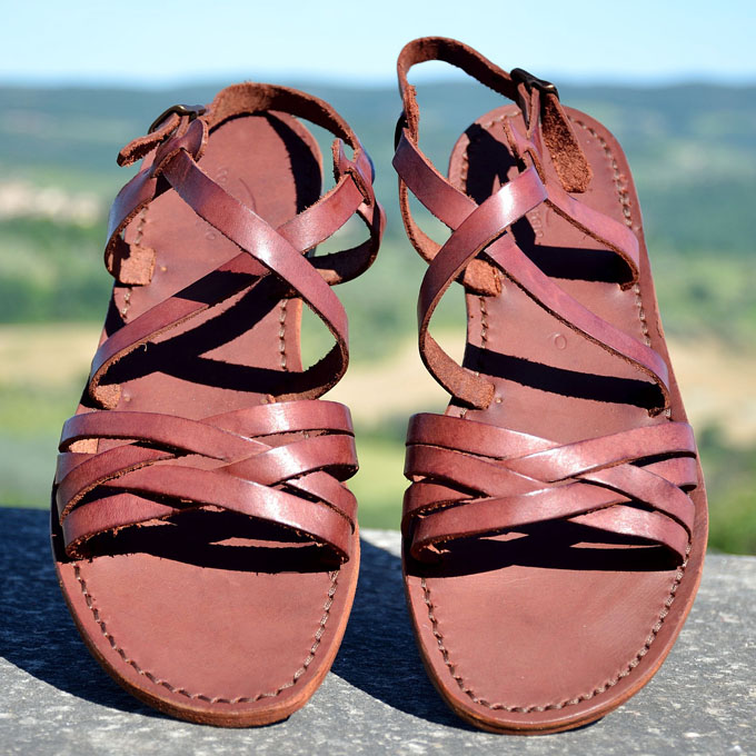 sandalo in cuoio atene