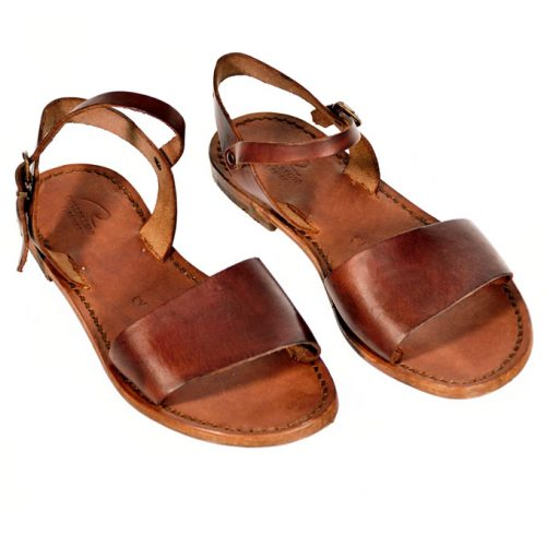 sandalo cuoio da donna