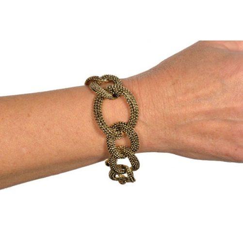 bracciale catena metallo