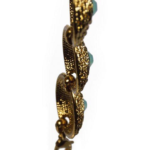bracciale metallo con opale