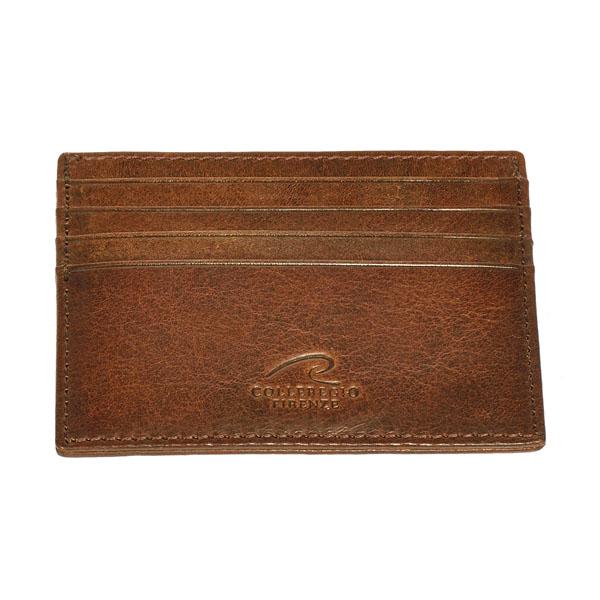 porta carte di credito in cuoio
