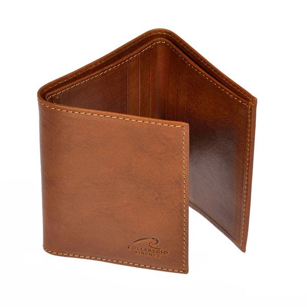 portafoglio cuoio piccolo 3 folder