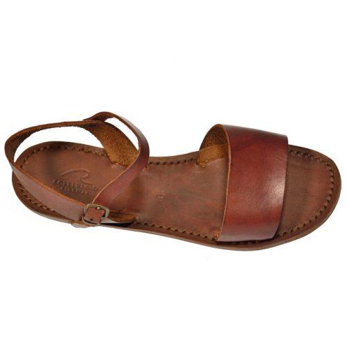 sandalo donna cuoio fascia